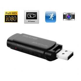 USB espía Full HD 1080p con visión nocturna y deteccion de movimiento