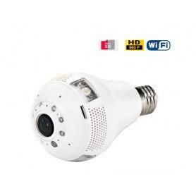 Bombilla espia IP WIFI 3W 960p gran angular con visión nocturna y detección de movimiento
